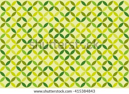 Green background. Retro. Vector - stock vector