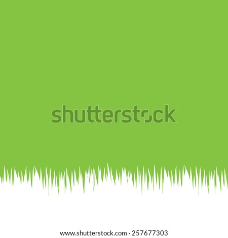 Green Background With white  Grass , Vector Illustration - stock vector