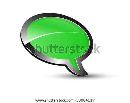 Green Balloon conversation - stock vector