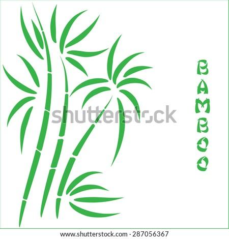 Green bamboo t - stock vector
