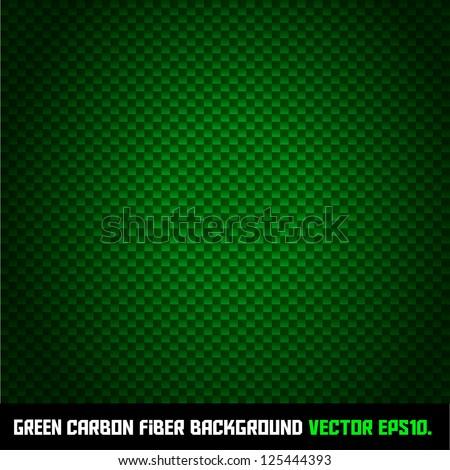 GREEN carbon fiber background VECTOR EPS10. - stock vector