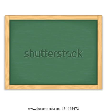 Green chalkboard on white background, vector eps10 illustration - stock vector