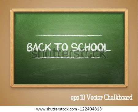 Green chalkboard.Vector - stock vector