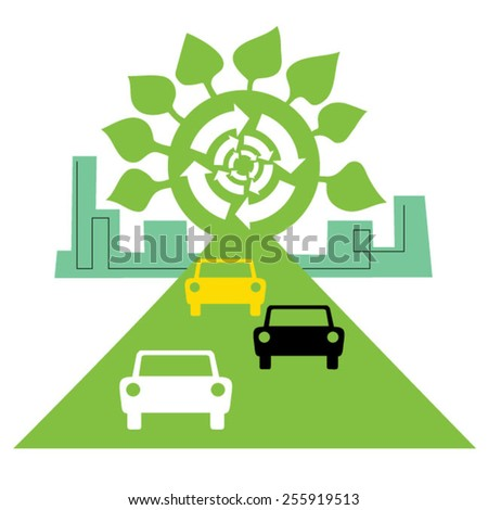 Green city,enviroment and ecology - stock vector