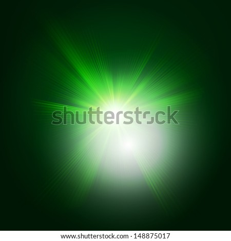 Green color design with a burst. EPS 10 vector file included - stock vector