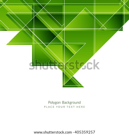 Green color modern polygon background - stock vector