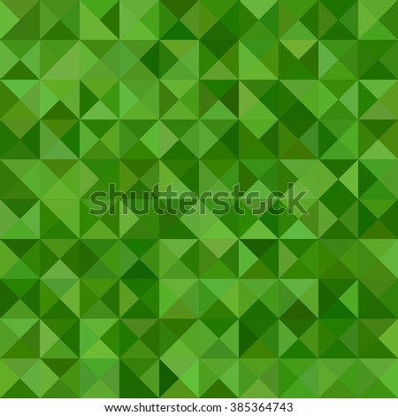Green color triangle mosaic vector background design - stock vector
