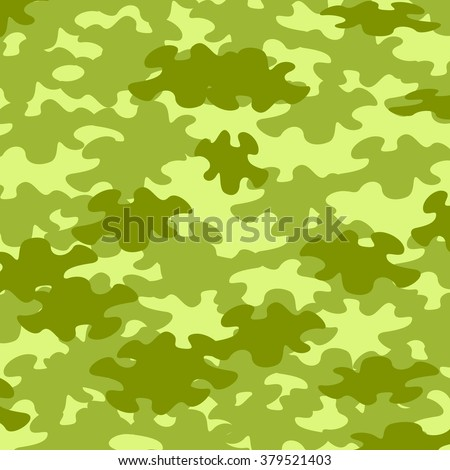 Green colored camouflage background - stock vector