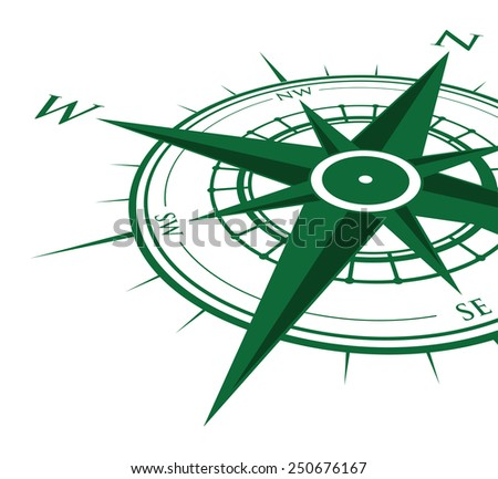 green compass background - stock vector