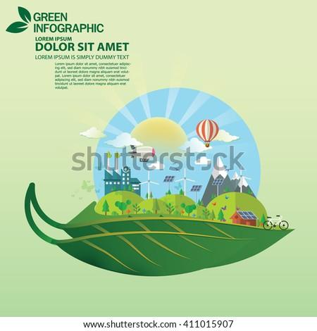 green concept. Green infographics - stock vector