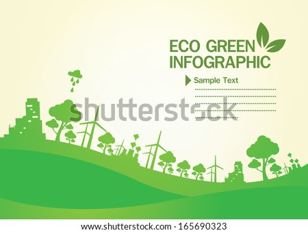 Green Concept Infographic - stock vector