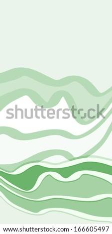 Green cover - stock vector