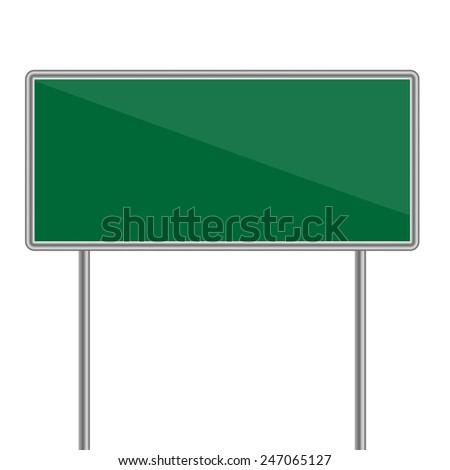 green direction sign. Vector illustration - stock vector