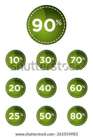 green discount prices label vector illustration - stock vector
