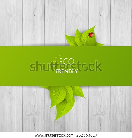 Green eco abstract design, Vector illustration eps 10 - stock vector