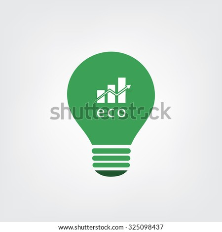 Green Eco Energy Concept Icon - Economic Growth - stock vector