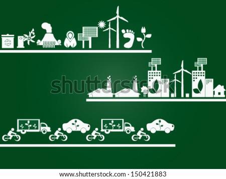 Green Elements - stock vector