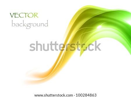 green elements on the white background - stock vector