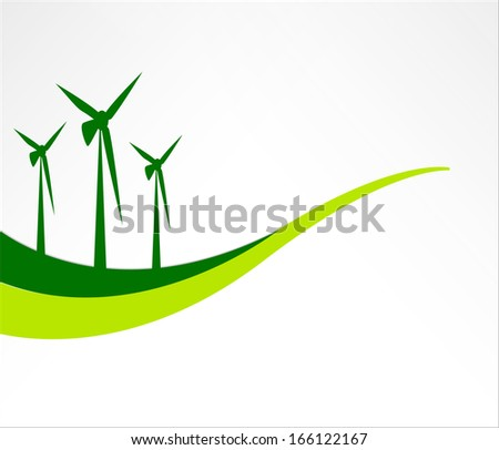 Green energy background - stock vector