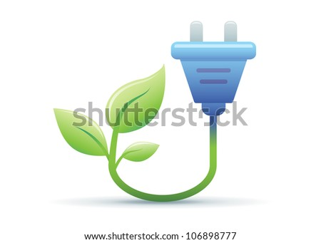 Green Energy Illustration - stock vector