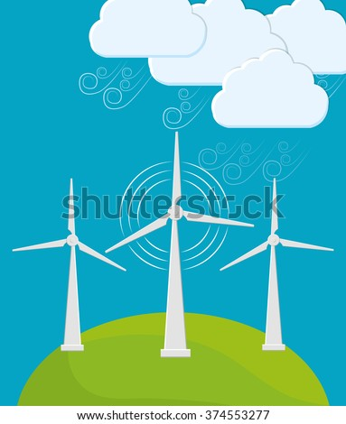 Green energy innovation - stock vector