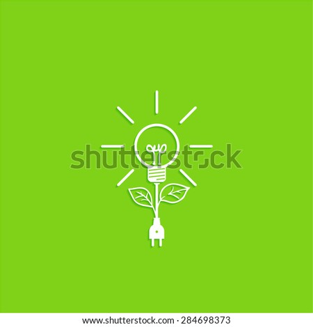 green energy, vector icon of ecological system - stock vector