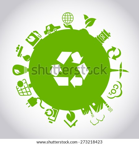 Green environment ECO concept, great for your design - stock vector