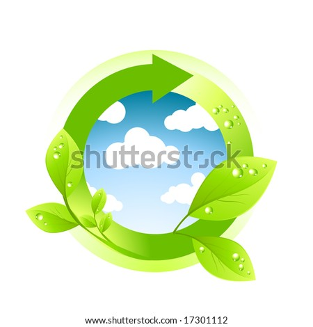 Green Environment Element. Vector illustration. - stock vector
