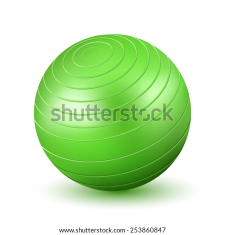 Green Fitball - stock vector