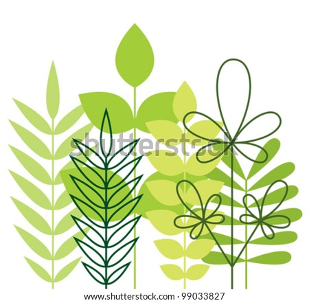 Green foliage - stock vector