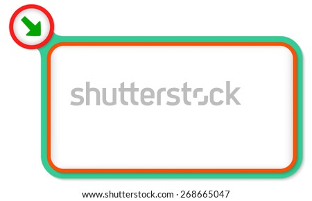 Green frame for your text and arrow - stock vector
