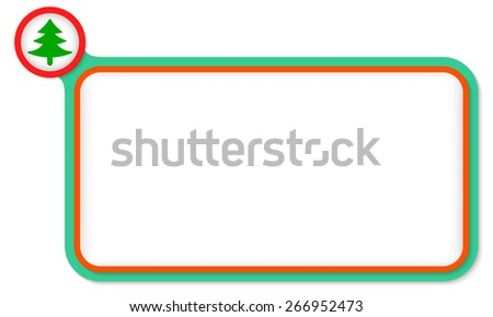 Green frame for your text and tree symbol - stock vector