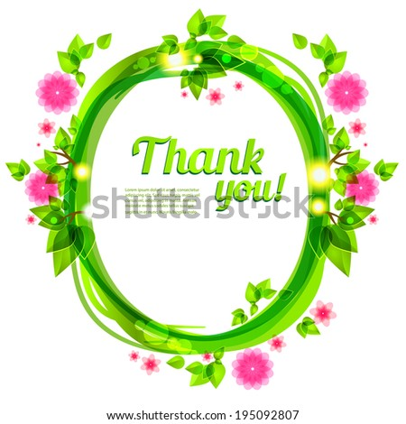 Green frame with beautiful flowers. Vector frame for holiday and events - stock vector