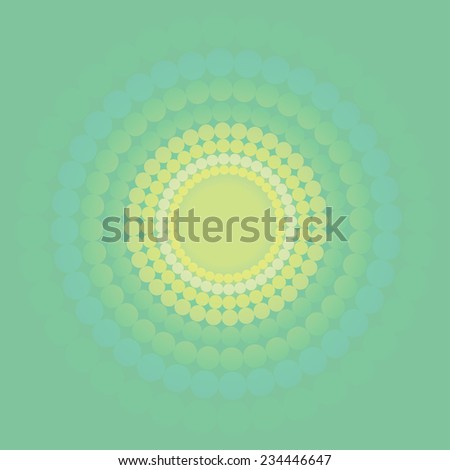 Green fresh vintage vector circle background - stock vector