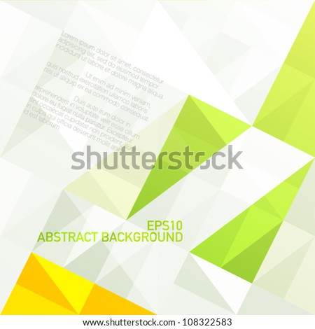 Green gamut geometric abstract background. Vector, EPS10 - stock vector
