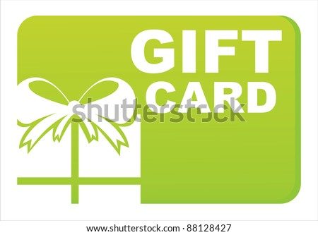 green gift card isolated on white - stock vector