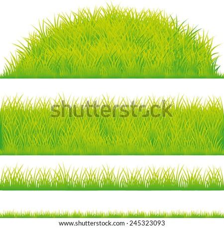 green grass design element - vector illustration - stock vector