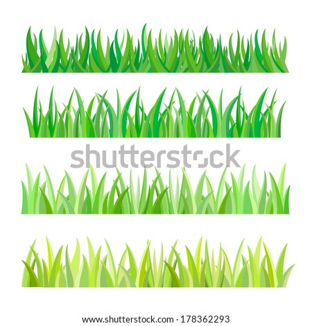 Green Grass Isolated, Vector Illustration - stock vector