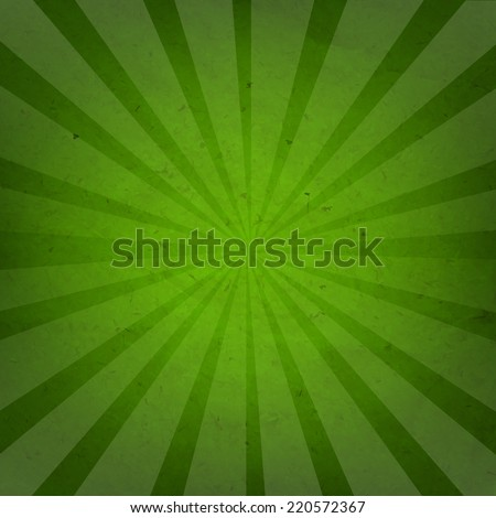 Green Grunge Background Texture With Sunburst With Gradient Mesh, Vector Illustration - stock vector