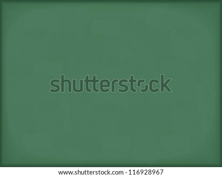 Green horizontal blackboard background, vector eps10 illustration - stock vector
