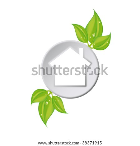 green house solutions - stock vector