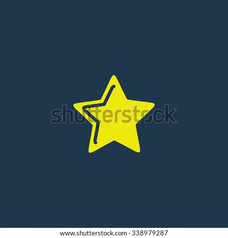 Green icon of Star on dark blue background. Eps.10 - stock vector