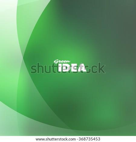 Green Idea - Eco, Bio, Nature Background Design Template - stock vector