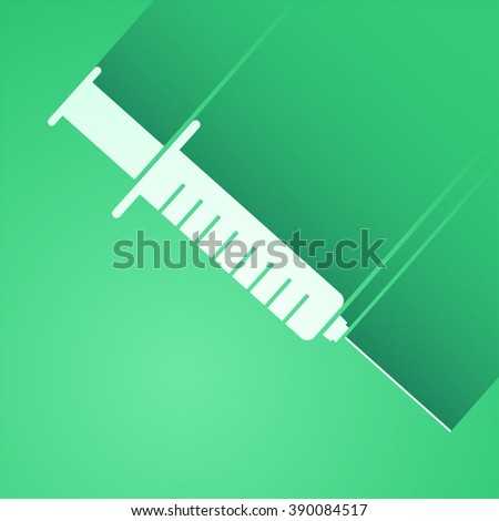 green injection symbol - stock vector