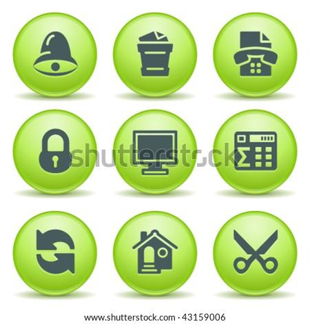 Green internet label 7 - stock vector