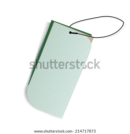 Green labels. Vector. - stock vector