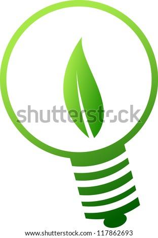green lamp concept - stock vector
