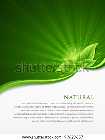 Green leaf ecology concept of annual report. vector illustration - stock vector