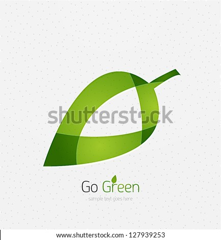 Green leaf vector concept - stock vector