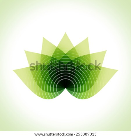 Green leaves abstract Vector illustration. Eco friendly - stock vector